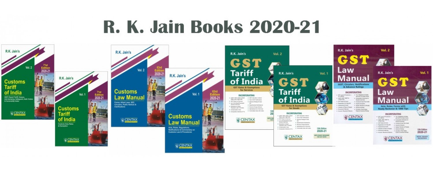 Centax Publications GST, Customs Books
