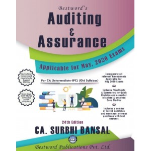 CA. Surbhi Bansal's Auditing & Assurance For CA Inter (IPCC) May 2020 Exam [Old Syllabus] by Bestword Publication
