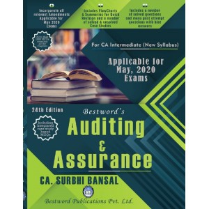 CA. Surbhi Bansal's Auditing & Assurance for CA Intermediate May 2020 Exam by Bestword Publications [New Syllabus]