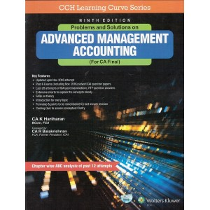 CCH's Problems and Solutions on Advanced Management Accounting (Costing - AMA) for CA. Final May 2017 Exam by CA. K. Hariharan
