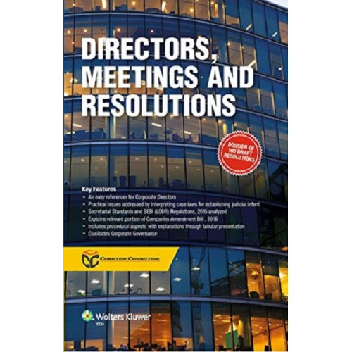 CCH's Directors, Meetings and Resolutions by Corpcode Consulting, 1st Edn. 2017