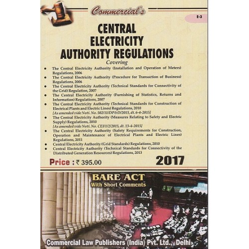 Commercial's Central Electricity Authority Regulations Bare Act, 2017 Edn