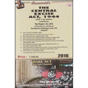 Commercial's Bare Act on The Central Excise Act, 1944