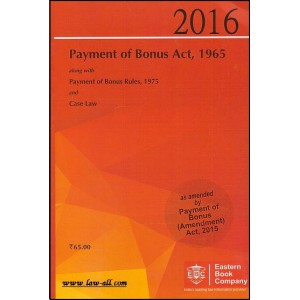EBC's Bare Act on Payment of Bonus Act, 1965 | Eastern Book Company