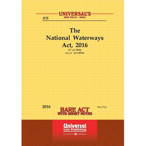 Universal's Bare Act on The National Waterways Act, 2016
