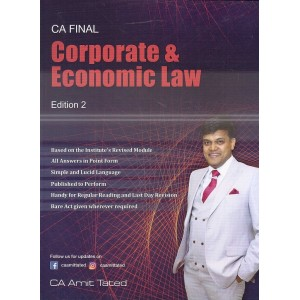 A. T. Academy's Corporate & Economic Law for CA Final May 2020 Exam by CA. Amit Tated