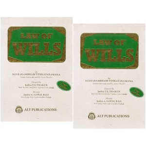 ALT Publication's Law of Wills by Neerarambham Venkataramana [2 HB Volumes]
