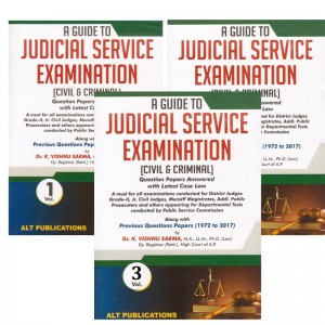 ALT Publication's A Guide to Judicial Service Examination 2019 [Civil & Criminal] with Previous Questions Papers (1972 to 2017) by Dr. K. Vishnu Sarma [3 Vols.| JMFC]