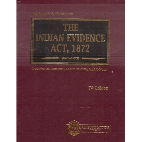 ALT Publication's The Indian Evidence Act, 1872 [HB] by Justice P. S. Narayana