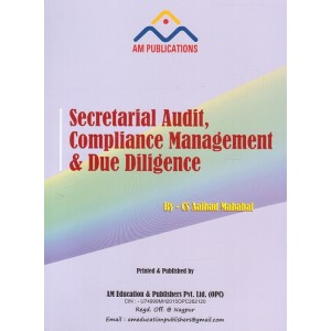 AM Education & Publisher's Secretarial Audit, Compliance Management & Due Diligence for CS Professional June 2017 Exam By Aalhad Mahabal
