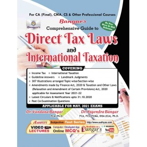 Yogendra Bangar's Direct Tax Laws and International Taxation for CA Final May 2021 Exam [New & Old Syllabus] by Aadhya Prakashan