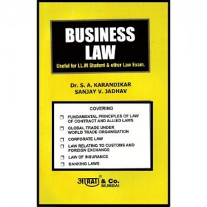 Aarati & Company's Business Law for LL.M & Other by Dr. S. A. Karandikar & Sanjay Jadhav