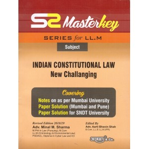 Aarati's Master Key of Indian Constitutional Law New Challanging for LL.M by Adv. Minal M. Sharma