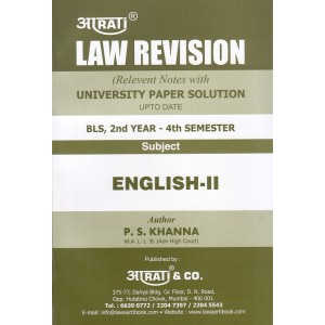 Aarti & Company's Law Revision on English II with Notes & University Paper Solution for Second Year BLS (4th Semester) by P. S. Khanna