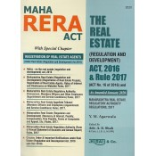 Aarti & Company's MahaRERA Act | The Real Estate (Regulation and Development) Act, 2016 & Rule 2017 by Y. M. Agarwala, Adv. A. B. Shah