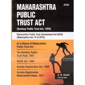Aarti & Co.'s Maharashtra Public Trust Act, 1950 by Adv. A. B. Shah | Bombay Public Trust Act [MPT/BPT]