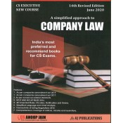Anoop Jain's Company Law for CS Executive June 2020 Exam [New Course/Syllabus] by Aj Publications | Free Delivery