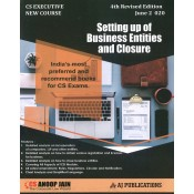 Anoop Jain's Setting Up of Business Entities and Closure for CS Executive June 2020 Exam [New Course] by AJ Publications | Free Delivery