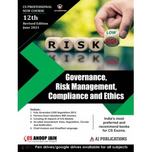 Anoop Jain's Governance, Risk Management, Compliance and Ethics for CS Professional June 2021 Exam [New Syllabus] by AJ Publication