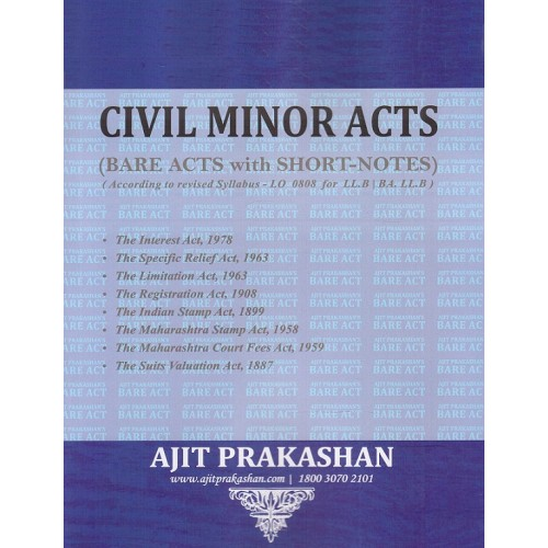 Ajit Prakashan's Civil Minor Acts (Bare Acts)