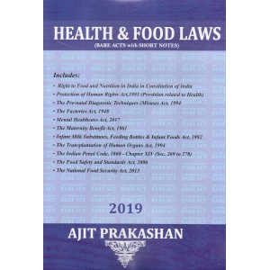 Health & Food Laws (Bare Acts with Short Notes)