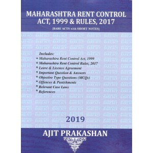 Ajit Prakashan's Maharashtra Rent Control Act, 1999 & Rules, 2017 (Bare Acts with Short Notes)