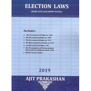 Election Laws (Bare Acts with Short Notes)