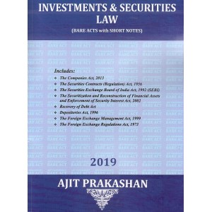 Investments & Securities Law (Bare Acts with Short Notes)