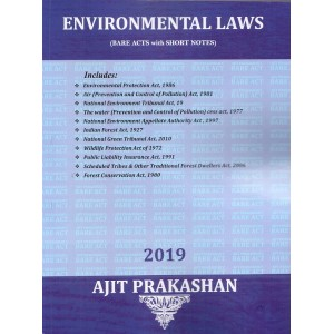Ajit Prakashan's Environmental Laws (Bare Acts with Short Notes)