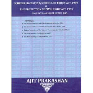 Ajit Prakashan's Scheduled Castes & Scheduled Tribes Act, 1989 & The Protection of Civil Rights Act 1955 [Bare Acts with Short Notes] | SCST Act 1989