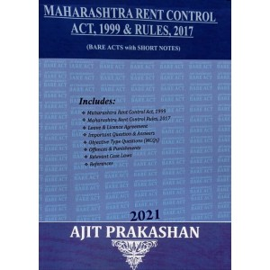 Ajit Prakashan's Maharashtra Rent Control Act, 1999 & Rules, 2017 (Bare Acts with Short Notes) | [2020-21. Edn]