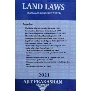 Ajit Prakashan's Land Laws (Bare Acts with Short Notes) | Land Laws I & II [2020-21. Edn]
