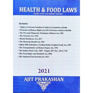Ajit Prakashan's Health & Food Laws (Bare Acts with Short Notes)