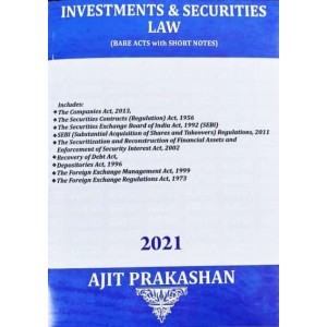Ajit Prakashan's Investments & Securities Law (Bare Acts with Short Notes)