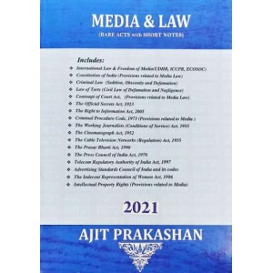 Ajit Prakashan's Media & Law (Bare Acts with Short Notes)