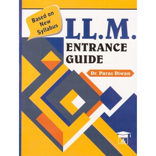 Allahabad Law Agency's LL.M. Entrance Guide By Dr. Paras Diwan
