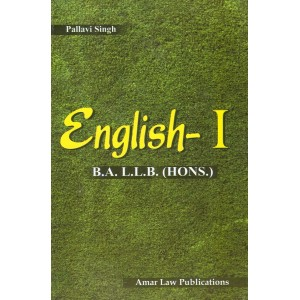 English I for BA LLB by Pallavi Singh | Amar Law Publication