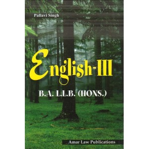 Amar Law Publication's English III for BA LL.B (Hons.) by Pallavi Singh
