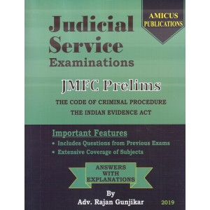 Amicus Publication's Judicial Service Examinations : JMFC Prelims 2019 [Containing Cr.P.C. & Evidence] by Adv. Rajan Gunjikar | Free Shipping