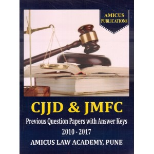 Amicus Publication's CJJD & JMFC Previous Question Papers with Answer Keys 2010-2017