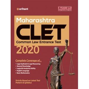 Arihant's Maharashtra CLET 2020 for 5 Years LL.B [Common Law Entrance Test] | MH-CET Law 2020