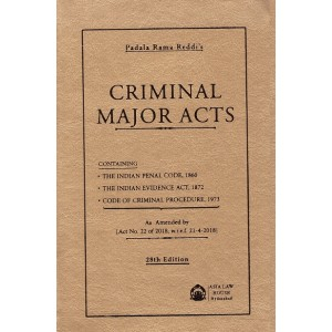 Asia Law House's Criminal Major Acts [Pocket] by Padala Rama Reddi