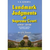 N. K. Acharya's Landmark Judgments of Supreme Court [1950-2018-HB] by Sri. V. K. Dewan | Asia Law House