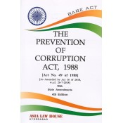 Asia Law House's The Prevention of Corruption Act, 1988 [Bare Act]