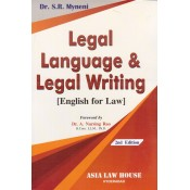 Myneni's Legal Language & Legal Writing [English for Law] by Asia Law House