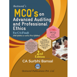 CA. Surbhi Bansal's MCQs on Advanced Auditing and Professional Ethics for CA Final November 2019 Exam [Old & New Syllabus] by Bestword Publication