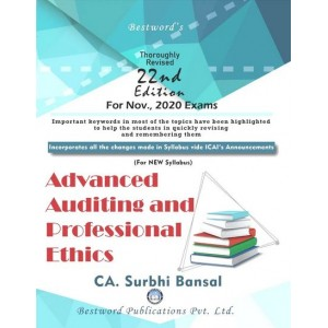 Bestword's Advanced Auditing and Professional Ethics for CA Final November 2020 Exam by CA Surbhi Bansal [New Syllabus]