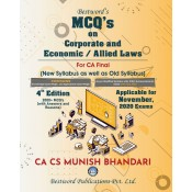 Munish Bhandari's MCQ's on Corporate and Allied / Economic Laws for CA Final November 2020 Exam [Old & New Syllabus] by Bestword Publication