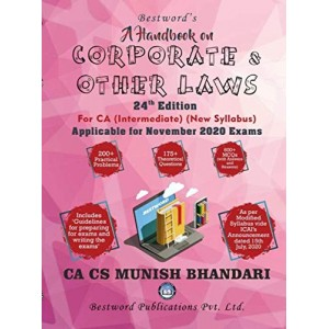 Munish Bhandari's A Handbook on Corporate & Other Laws for CA Intermediate November 2020 Exam [New Syllabus] by Bestword Publications