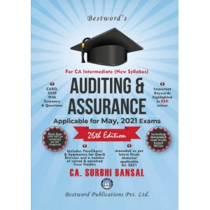 CA. Surbhi Bansal's Auditing & Assurance for CA Intermediate May 2021 Exam [New Syllabus] by Bestword Publications